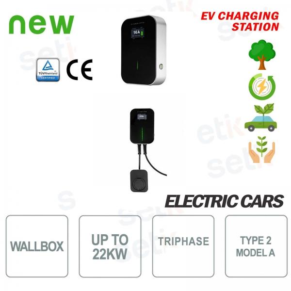 WallBox Stazione di ricarica EV Auto Elettriche Trifase 22Kw Femmina