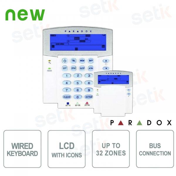Paradox Tastiera Allarme Filare LCD Icone Retroilluminata BUS