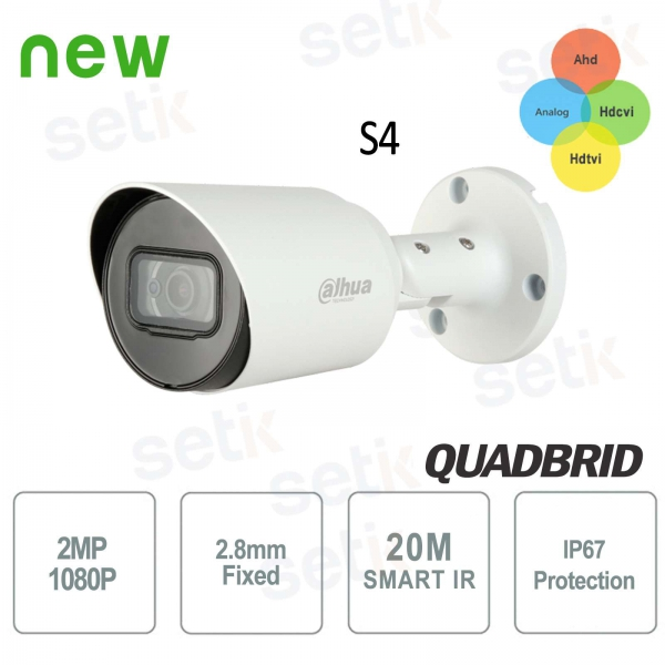 HD CVI 2MP 4in1 2.8mm Outdoor Camera IR Dahua