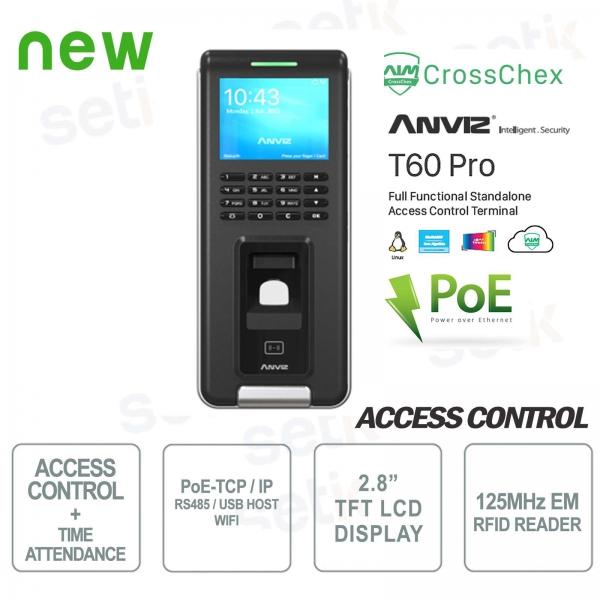Standalone Controllo Accessi e Presenze RFID WiFi PoE Anviz