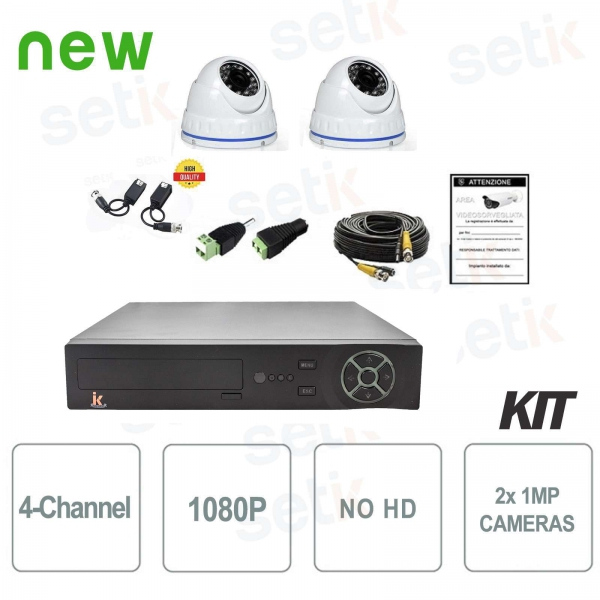 Kit Videosorveglianza 4 Canali AHD 720P 2 Cam No HD - Serie Home