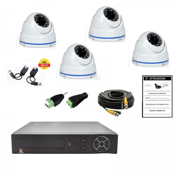Video surveillance KIT 4-Channels AHD 720P 4 Cam No HD - Home Series