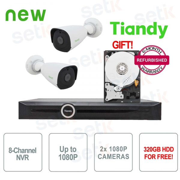 Promo KIT Video surveillance NVR + IP cameras + HDD Free
