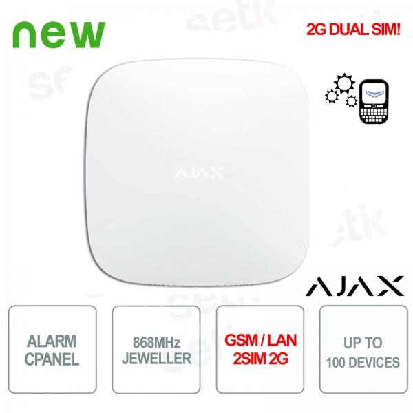 Ajax HUB GPRS / LAN 868MHz 2SIM 2G Alarm Control Panel