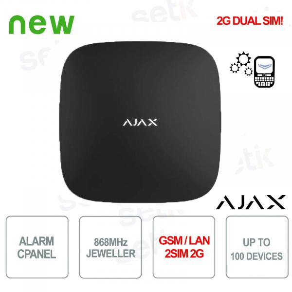 Ajax Alarm Control Panel HUB GPRS / LAN 868MHz 2SIM 2G Black Version