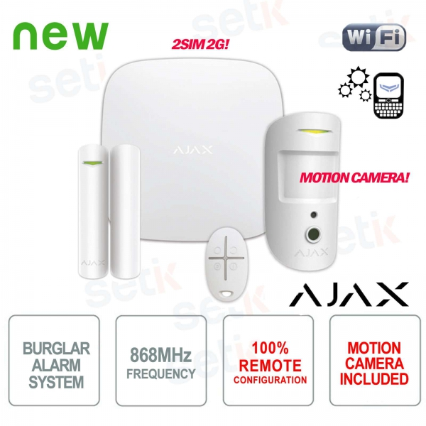 AJAX Professional Wireless GPRS / Ethernet 2SIM 2G Alarm Kit