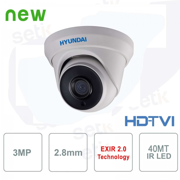 Telecamera HD esterna Hyundai 3MP TVI IR40 2.8mm