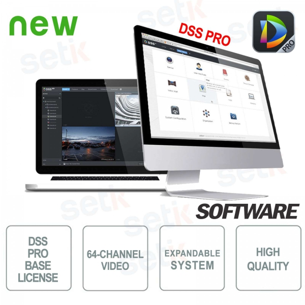 VMS Dahua Software DSS PRO Licenza Base