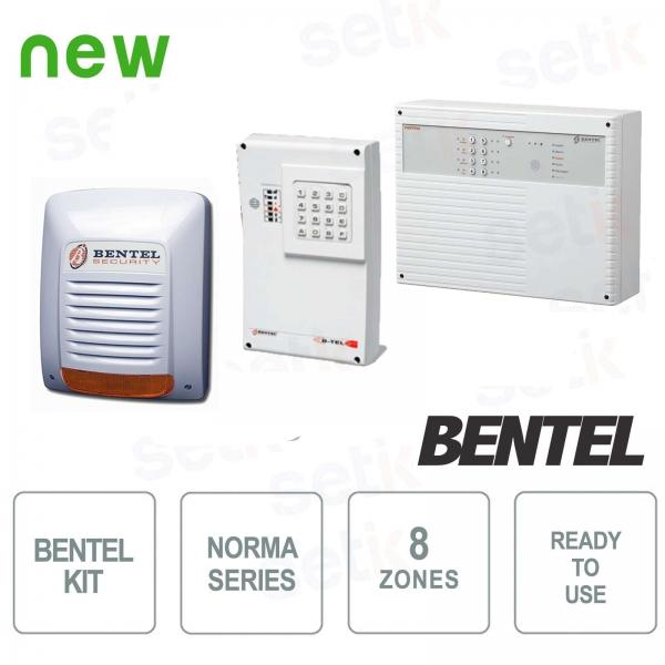 Complete Alarm Kit 8 Zone Bentel Serie Norma