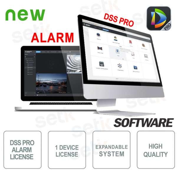 VMS Dahua Software DSS PRO Licenza Allarme