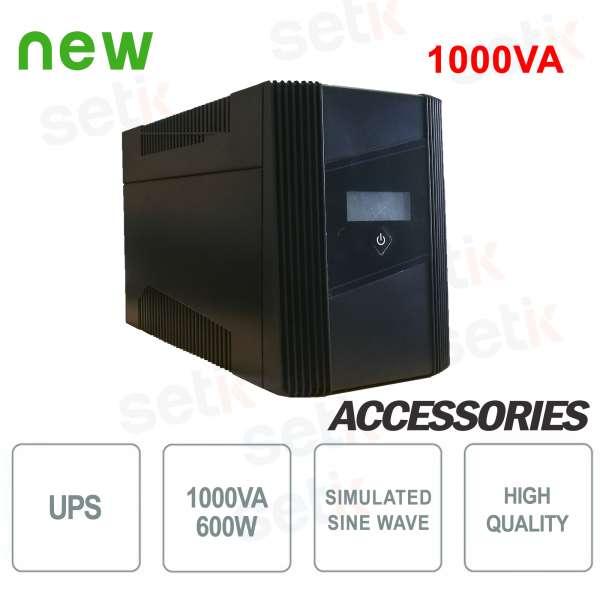 Gruppo di continuità UPS 1000VA / 600W LCD Monofase