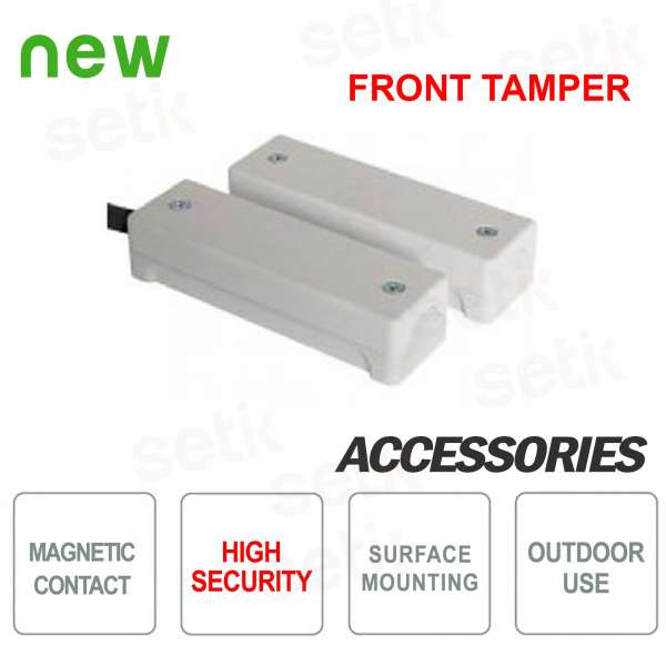 High security outdoor magnetic contact with cover -