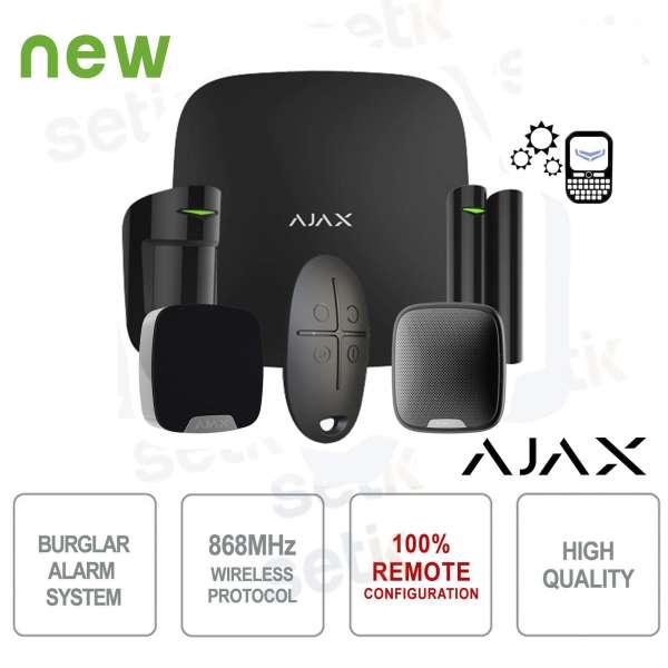 AJAX Kit di Allarme Professionale Wireless HUB Kit Siren Black