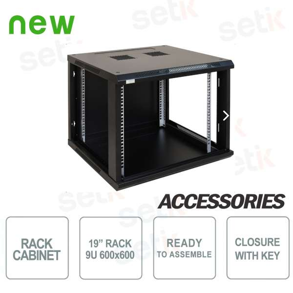 "Pulsar wall cabinet to assemble Rack 19 ""9U / 600"