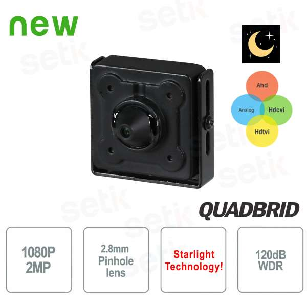 Hidden Camera 4in1 Starlight 2MP 3.6mm WDR - Dahua