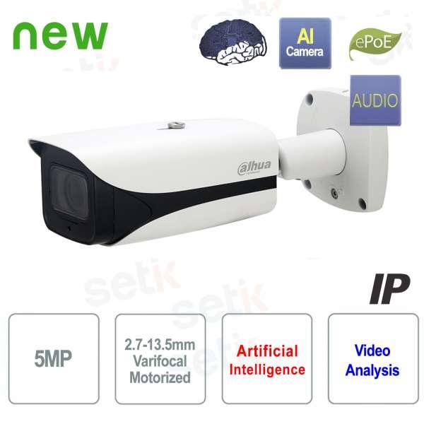 Telecamera AI IP ONVIF PoE 5MP 50M IR Motorizzata Dahua