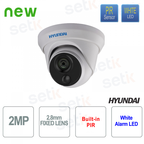 Dome Camera HD-TVI IR 20 meters EXIR 2.0 Fixed Lens 2.8mm - HYUNDAI