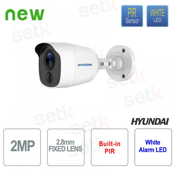 HD-TVI IR Bullet Camera 20 meters EXIR 2.0 Fixed Lens 2.8mm 3 AXIS - HYUNDAI