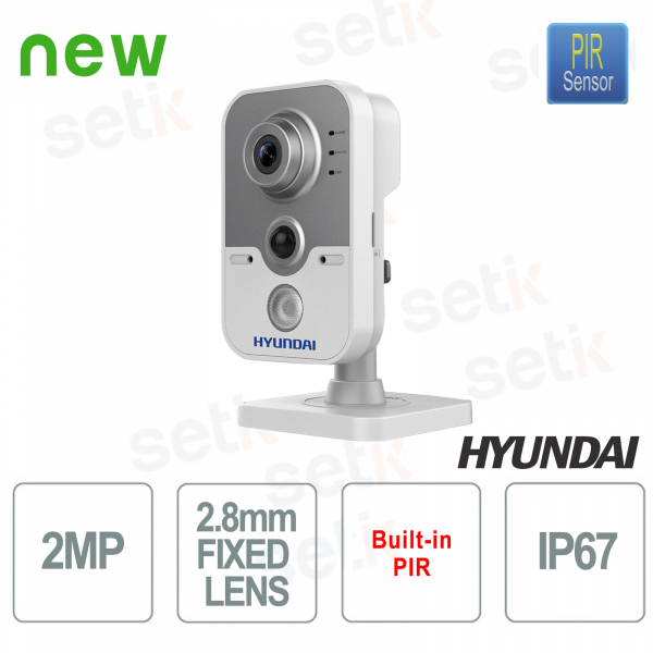 Compact Camera HD-TVI IR 20 meters EXIR 2.0 Fixed Lens 2.8mm for indoor use - HYUNDAI