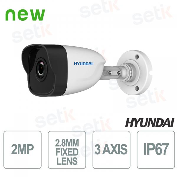 Hyundai 2 MP IR 30 m outdoor ONVIF PoE IP Bullet camera
