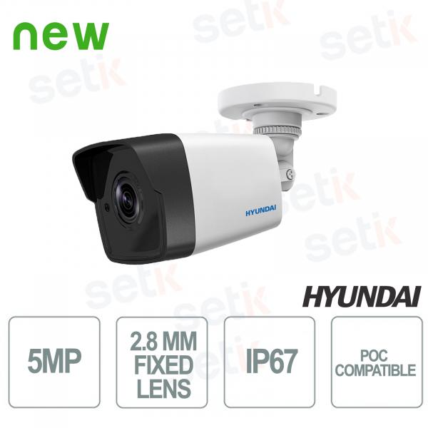 Camera Bullet HDTVI 5MP IR EXIR 2.0 20 METRI Ottica Fissa 2.8mm POC