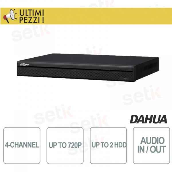 "DVR/NVR 4 Canali Tribrido 720P ""Hdcvi+IP+Analogico"" Audio e Allarme 2HDD - Dahua"