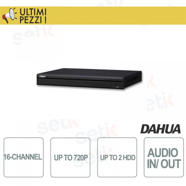 "NVR/DVR 16 Canali Tribrido 720P ""Hdcvi+IP+Analogico"" 2HDD Audio e Allarme - Dahua"
