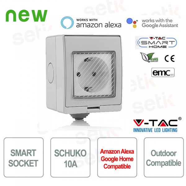 WIFI Socket Smart Home External Shuko socket Alexa Google Home V-TAC