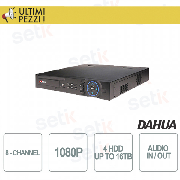 "NVR / DVR 8 Channels Tribrido 1080P ""Hdcvi + IP + Analog"" 4HDD Audio and Alarm - D"