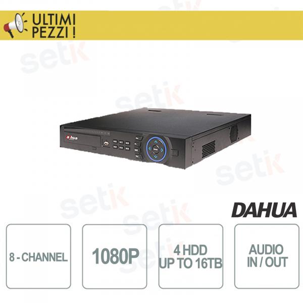 "NVR/DVR 8 Canali Tribrido 1080P ""Hdcvi+IP+Analogico"" 4HDD Audio e Allarme - Dahua"