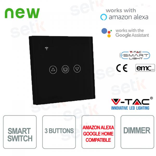WIFI Interruttore Smart Home 3 tasti IP40 Alexa Google Home V-TAC