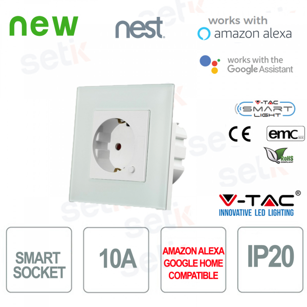 WIFI Presa esterna Smart Home Alexa Google Home Nest V-TAC
