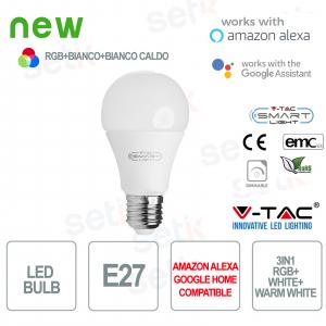 Lampadina LED Smart Home 3in1 RGB+2700K+6400K E27 A60 Alexa Google Home