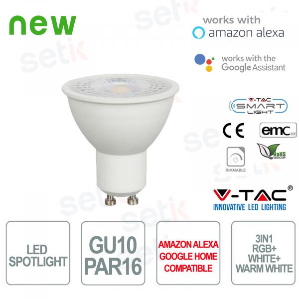 Faretto LED P45 Smart Home 3in1 RGB+2700K+6400K GU10 4.5W Alexa Google Home