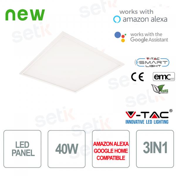 LED Panel 600x600 Smart Home 3in1 40W Alexa Google