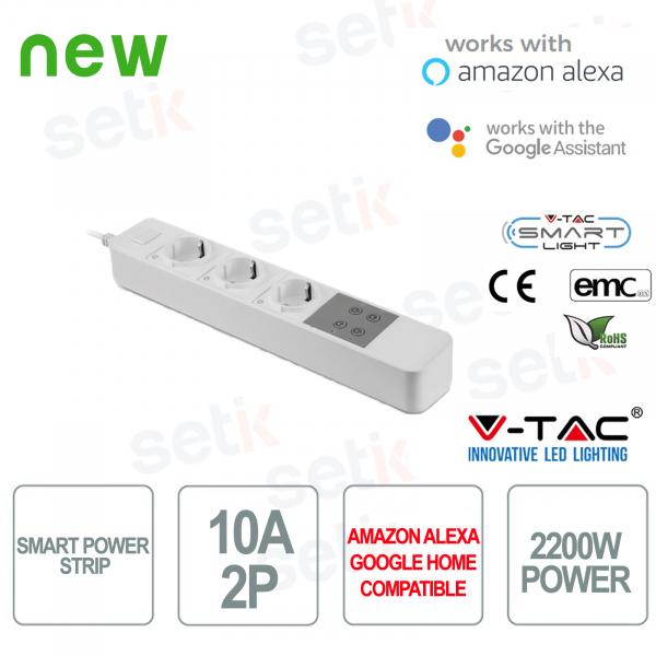 WIFI Ciabatta Smart Home 3 Prese Shuko Alexa Google Home V-TAC