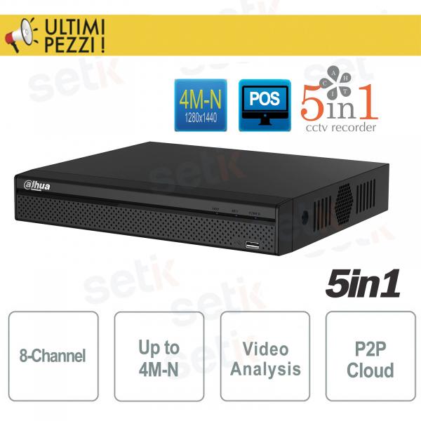 DVR 8 Channels 5 in 1 CVI TVI AHD ANALOG IP 4M-N Dahua