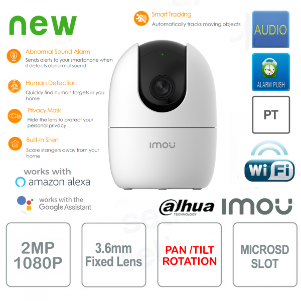 Imou Ranger 2 Telecamera IP AI Wireless 2MP Dahua PT 360°