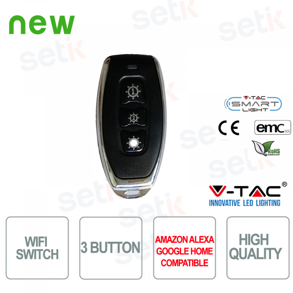 3 Button WIRELESS Smart Home Sw