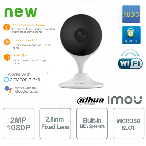 Imou Cue 2 Telecamera IP AI Wireless 2MP Dahua IR Audio