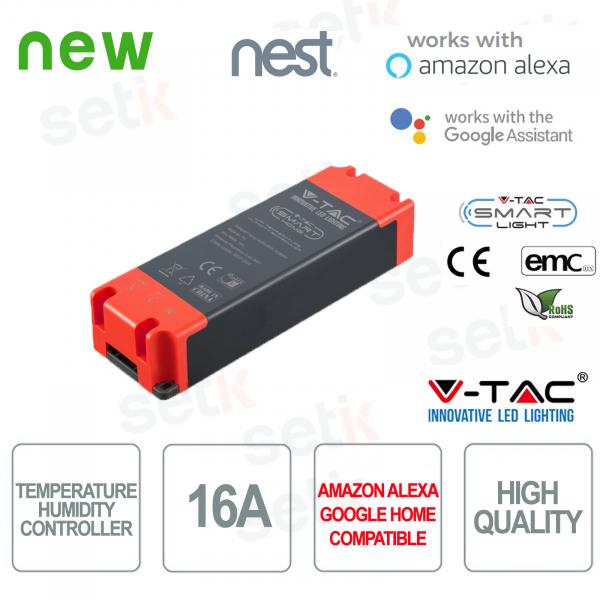 V-TAC Smart Programmatore di temperatura e umidità Amazon Alexa Google Home Nest