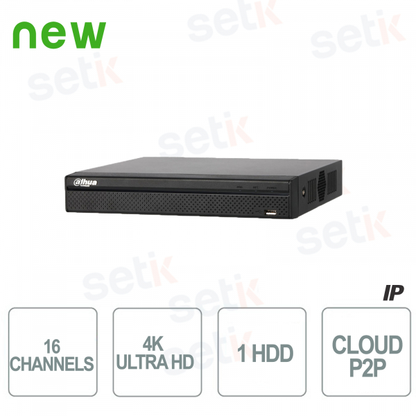 NVR 16 Channels IP H.265 4K 8MP Dahua