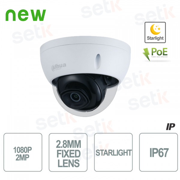 1080P Starlight H.265 WDR PoE IP Camera - Dahua