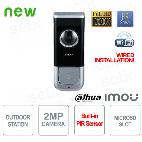Imou Outdoor Station Dahua WiFi Videophone 2MP FULL-HD camera PIR Alarm A