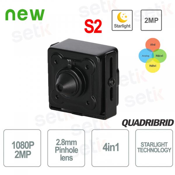 Telecamera Nascosta 4in1 Starlight 2MP 2.8mm Pinhole WDR - Dahua