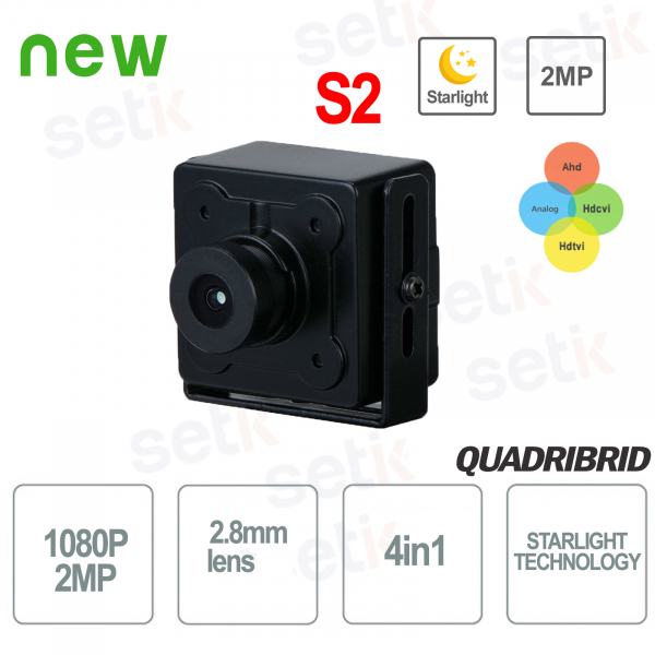 4in1 Starlight 2MP 2.8mm WDR Hidden Camera - D