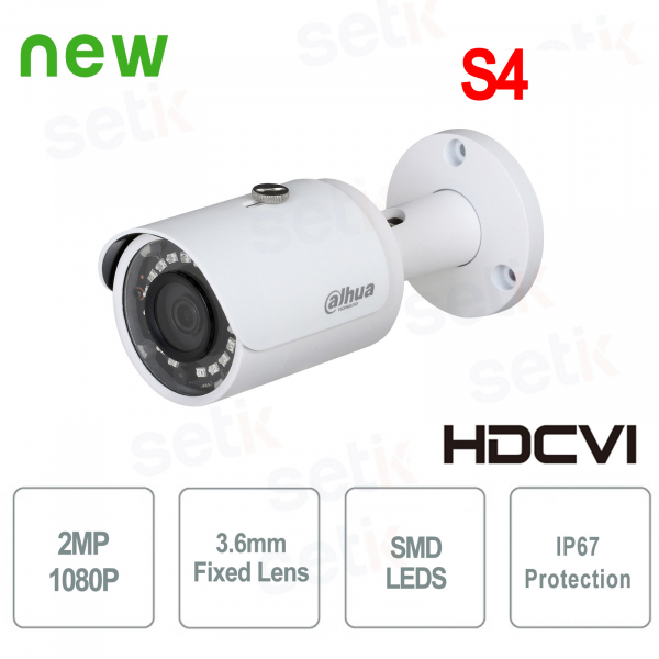HDCVI Bullet 2MP Full HD 3.6mm IP67 SMD Camera - Lite - Dahua