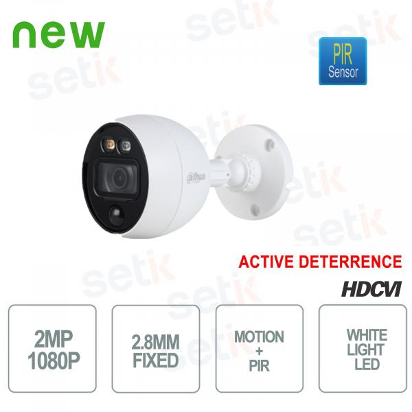 HD CVI 2MP 2.8mm PIR Active Deterrence MotionEye Dahua Camera