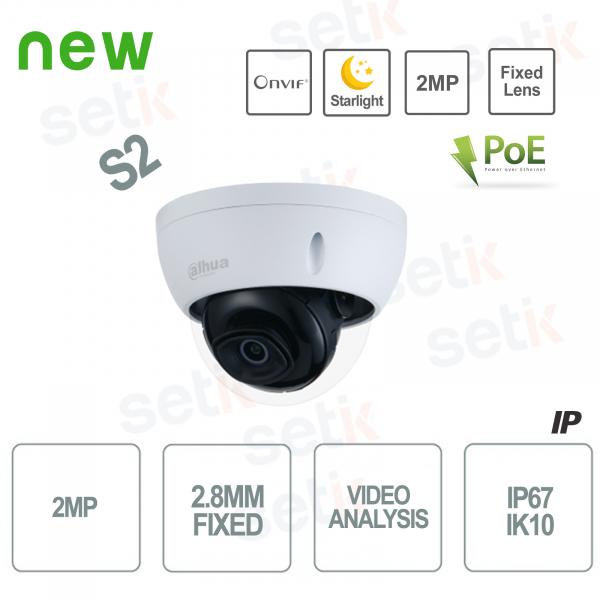 1080P IP Camera 2.8mm Fixed Lens Starlight H.265 WDR Onvif PoE - D