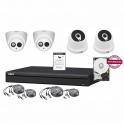 720P 4-Channel Video Surveillance Kit + 1MP + HD 500GB Cam